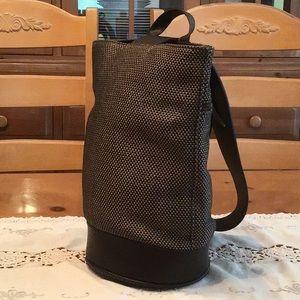 Gap Brown Tweed Sling Bucket Shoulder Bag *VGUC*